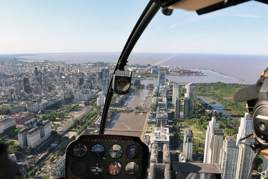 Helicopter tour Buenos Aires